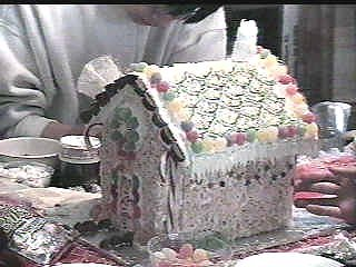 Close up of Rice Crispy House