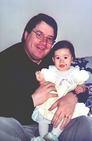 Janis and Daddy before Easter Service - April 2000
